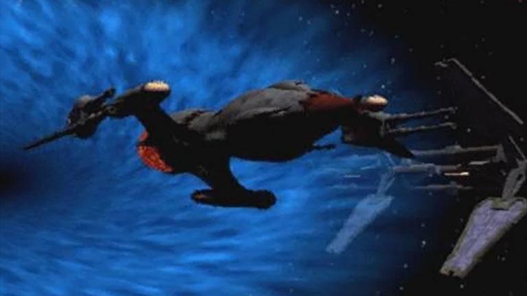 Корабль Drazi Sunhawk, из первого сезона сериала «Вавилон-5»