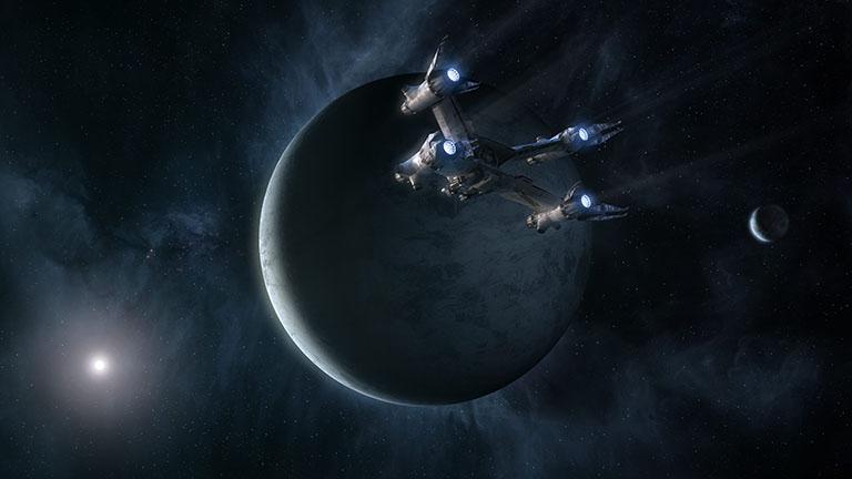 """Сериал """"Вавилон-5"""" оригинальная модель истребителя Starfury в разрешении 5120x2880"""