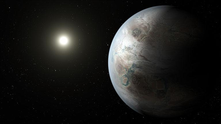 Kepler-452b, планета размером примерно с Землю, обнаруженная в обитаемой зоне