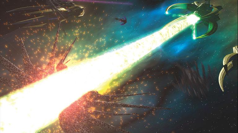 Уничтожение корабля Теней Ворлонцами