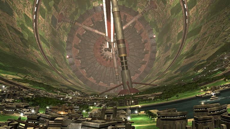 Внутренняя часть станции Вавилон-5 в современной обработке